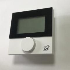 Комнатный термостат Alpha direct с LCD дисплеем IPS (черная рамка) 230V